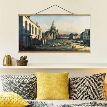 Stoffbild mit Posterleisten - Bernardo Bellotto - Der Neue Markt in Dresden - Querformat 2:1
