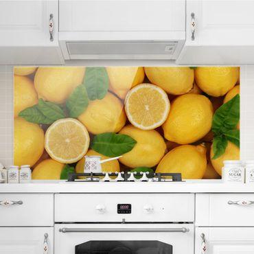 Spritzschutz Glas - Saftige Zitronen - Querformat - 2:1