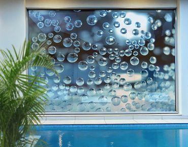 Fensterfolie - XXL Fensterbild Dark Bubbles - Fenster Sichtschutz