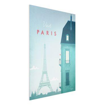 Forex Fine Art Print - Reiseposter - Paris - Hochformat 4:3