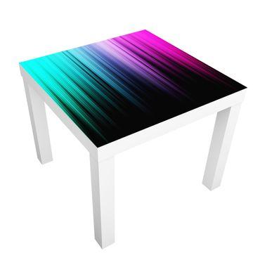 Möbelfolie für IKEA Lack - Klebefolie Rainbow Display