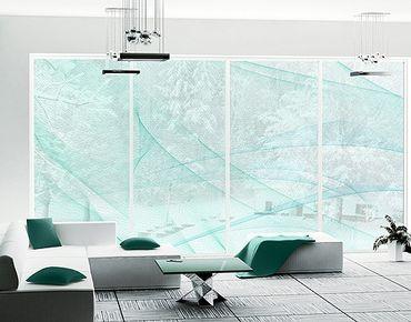 Fensterfolie - XXL Fensterbild No.RY10 Eissturm - Fenster Sichtschutz