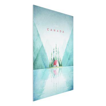 Forex Fine Art Print - Reiseposter - Canada - Hochformat 3:2