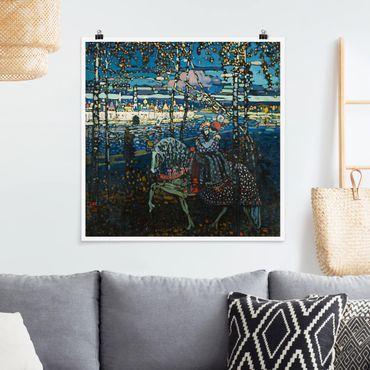 Poster - Wassily Kandinsky - Reitendes Paar - Quadrat 1:1