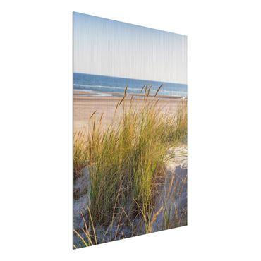 Aluminium Print gebürstet - Stranddüne am Meer - Hochformat 4:3