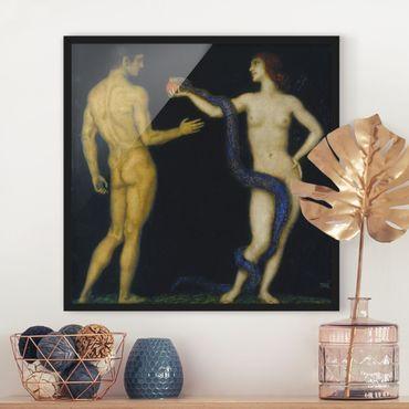 Bild mit Rahmen - Franz von Stuck - Adam und Eva - Quadrat 1:1
