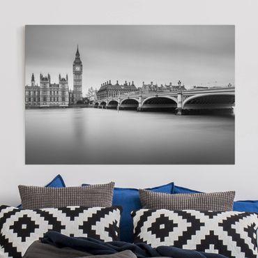 Leinwandbild - Westminster Brücke und Big Ben - Querformat 2:3