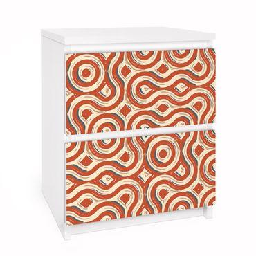 Möbelfolie für IKEA Malm Kommode - Selbstklebefolie Abstrakte Ethno Textur