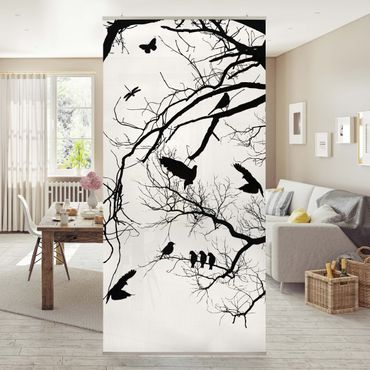 Raumteiler - Vintage Tree in the Sky 250x120cm