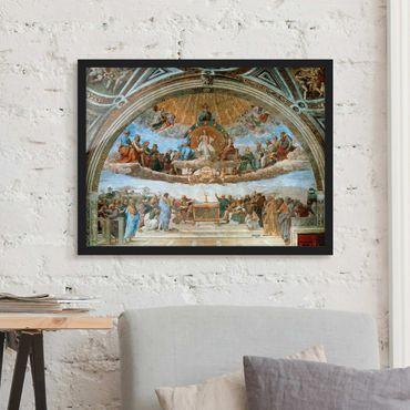 Bild mit Rahmen - Raffael - Disput über das Sakrament - Querformat 3:4