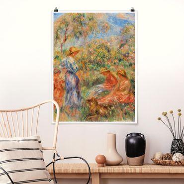 Poster - Auguste Renoir - Landschaft mit Frauen und Kind - Hochformat 3:4