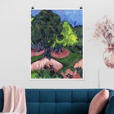 Poster - Ernst Ludwig Kirchner - Landschaft mit Kastanienbaum - Hochformat 3:4