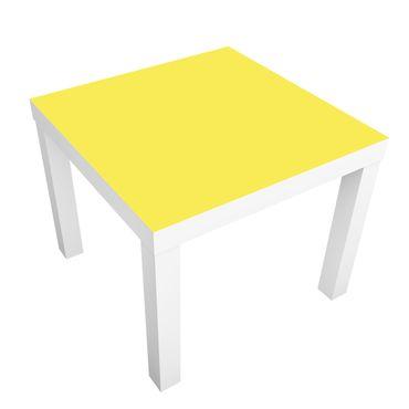 Möbelfolie für IKEA Lack - Klebefolie Colour Lemon Yellow