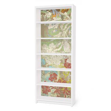 Möbelfolie für IKEA Billy Regal - Klebefolie Blüten vergangener Zeit