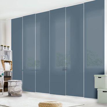 Schiebegardinen Set - Schieferblau - Flächenvorhänge