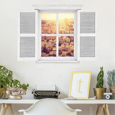 3D Wandtattoo - Flügelfenster Fiery Siena
