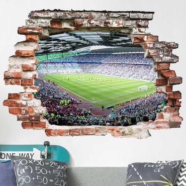 3D Wandtattoo - Fußballstadion - Quer 3:4