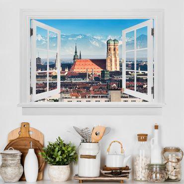 3D Wandtattoo - Offenes Fenster München