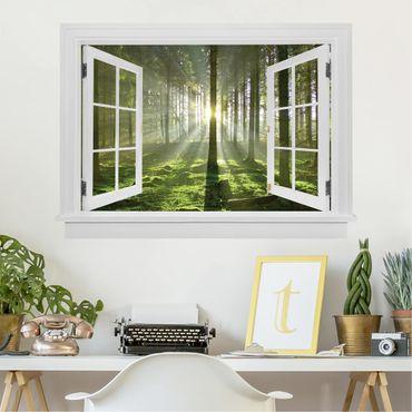 3D Wandtattoo - Offenes Fenster Spring Fairytale