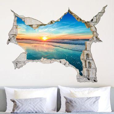 3D Wandtattoo - Sonnenaufgang Meer