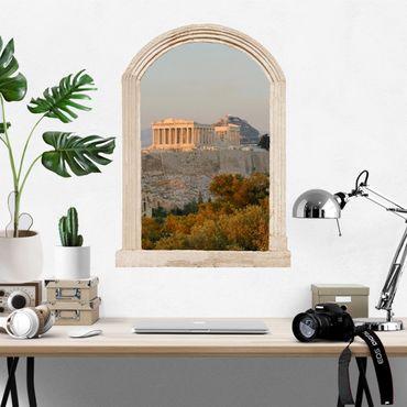 3D Wandtattoo - Steinbogen Akropolis