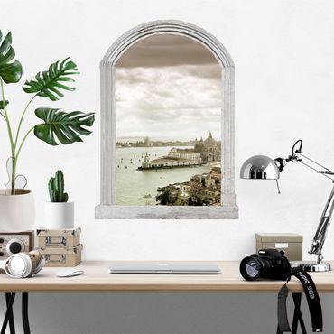 3D Wandtattoo - Steinbogen Lagune von Venedig