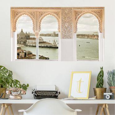 3D Wandtattoo - Verzierte Fenster Lagune von Venedig