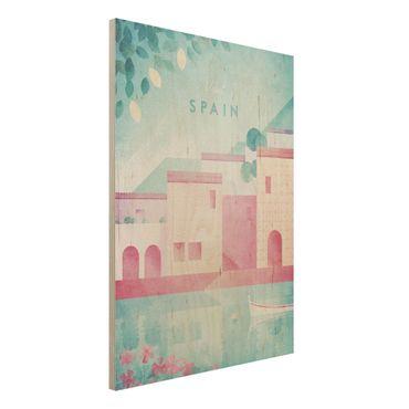 Holzbild - Reiseposter - Spanien - Hochformat 4:3