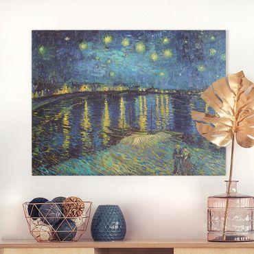 Leinwandbild - Vincent van Gogh - Sternennacht über der Rhône - Querformat 3:4