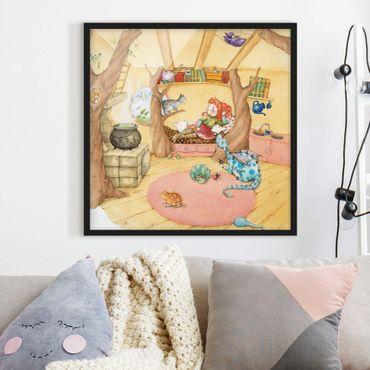Bild mit Rahmen - Frida erzählt vom Hexentreffen - Quadrat 1:1