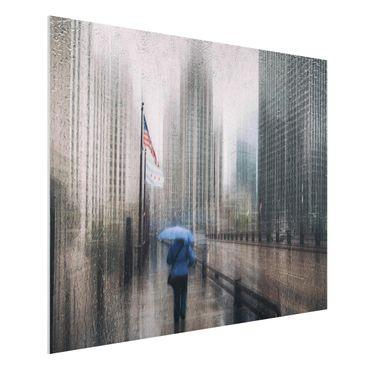 Forex Fine Art Print - Verregnetes Chicago - Querformat 3:4