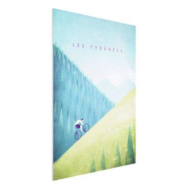 Forex Fine Art Print - Reiseposter - Die Pyrenäen - Hochformat 4:3