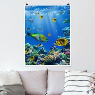 Poster - Underwater Lights - Hochformat 3:4