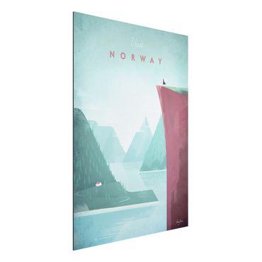 Aluminium Print - Reiseposter - Norwegen - Hochformat 4:3