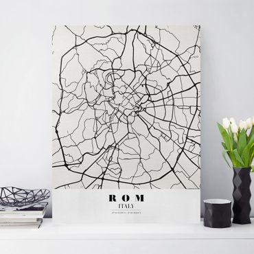 Leinwandbild - Stadtplan Rom - Klassik - Hochformat 4:3