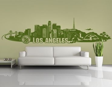Stadt Los Angeles - Wandtattoo Skyline - No.FB103 Los Angeles Skyline Wandtattoo
