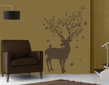 Wandtattoo Wald Vögel No.FB141 Hirsch