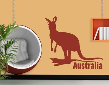 Wandtattoo Sprüche - Wandworte No.JS29 Australia Kangaroo