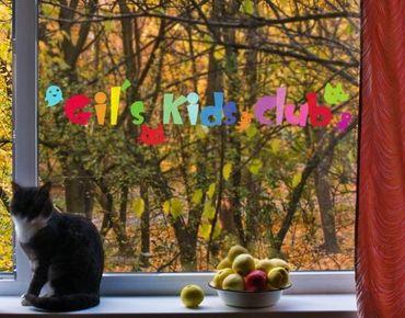 Fensterfolie - Fenstersticker No.IS23 WunschText Kids Club Bunt - Fensterbilder