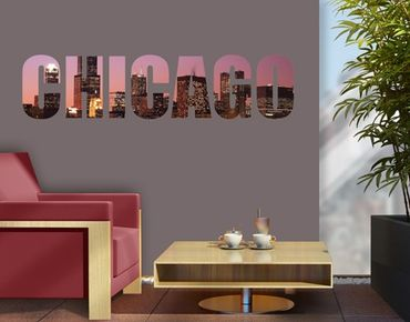 Wandtattoo Sprüche - Wandworte No.JS46 Chicago Skyline