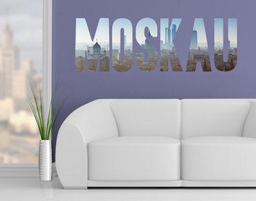 Wandtattoo Sprüche - Wandworte No.JS54 Moskau Skyline