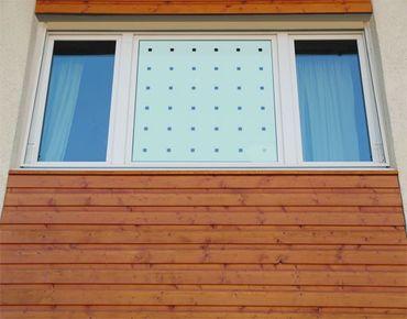 Fensterfolie - Sichtschutzfolie No.UL933 Kleine Quadrate II - Milchglasfolie