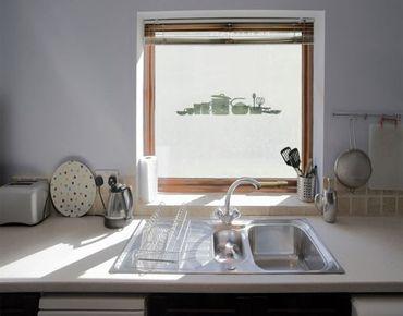 Fensterfolie - Sichtschutzfolie No.UL936 Geschirr II - Milchglasfolie