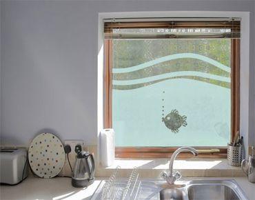 Fensterfolie - Sichtschutzfolie No.UL946 Fischchen II - Milchglasfolie