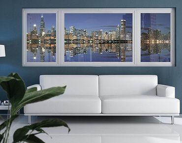 Fensterfolie - Sichtschutz Fenster Chicago Reflection - Fensterbilder