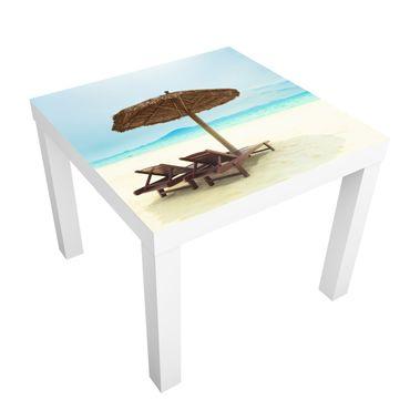 Möbelfolie für IKEA Lack - Klebefolie Beach of Dreams