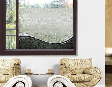 Fensterfolie - Sichtschutz Fenster Swinging Baroque - Fensterbilder