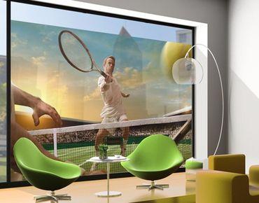 Fensterfolie - XXL Fensterbild Tennis Player - Fenster Sichtschutz
