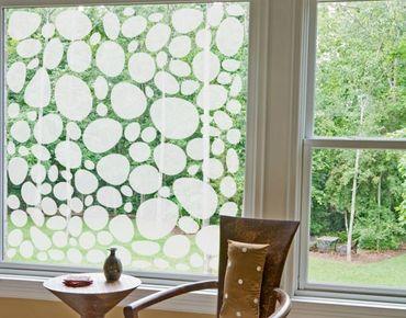 Fensterfolie - Sichtschutzfolie No.UL971 Kieselsteine II - Milchglasfolie - Milchglasfolie