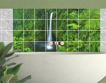 Fliesenbild - Paradiesischer Wasserfall